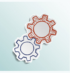 icon mechanical gears vector image