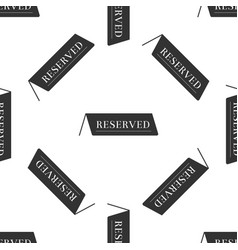 reserved icon seamless pattern on white background vector image vector image