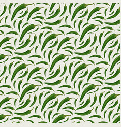 seamless pattern with chili peppers vector image vector image