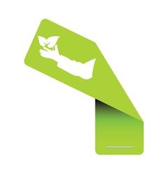 sticker eco green vector image vector image