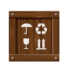 Wooden box stock vector