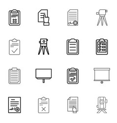 16 survey icons vector image