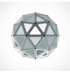 3d low poly spherical object with black connected vector image