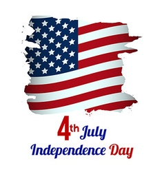 4th july american independence day grungy wave vector