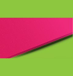 abstract pink and green paper cut style background vector image