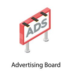 Ad board vector