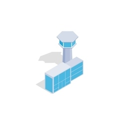 Airport building icon isometric 3d style vector
