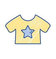 baby t-shirt and textile clothes vector image