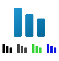 Bar chart decrease flat gradient icon vector
