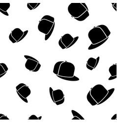Baseball cap seamless pattern vector