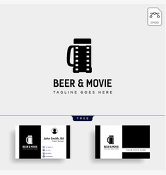 beer glass movie wine cinema simple creative vector image