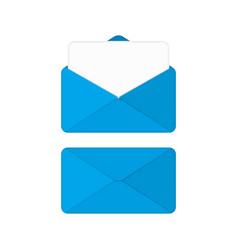 blue envelope vector image