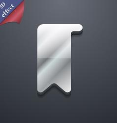 Bookmark icon symbol 3D style Trendy modern design vector