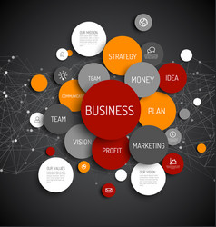 business infographic diagram vector image