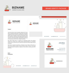 Candles business letterhead envelope and visiting vector