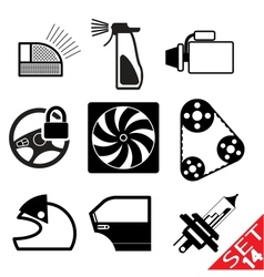 car part icon set 14 vector image vector image