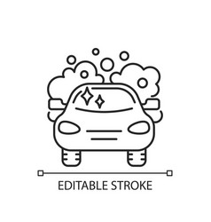 car washing linear icon vector image