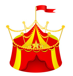cartoon circus tent vector image