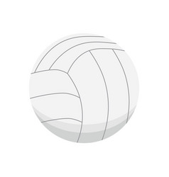 cartoon colorful volleyball ball isolated vector image