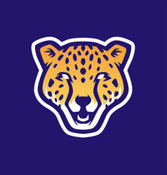 cheetah head e sport logo icon vector image