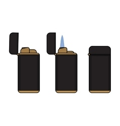 Cigar lighter In different states vector image