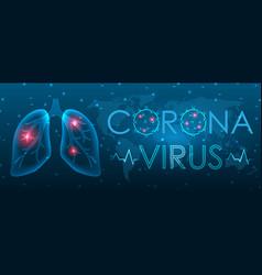 Coronavirus 2019-ncov infected lungs symptoms vector