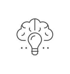 creative idea line outline icon vector image