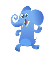 cute cartoon blue elephant icon vector image