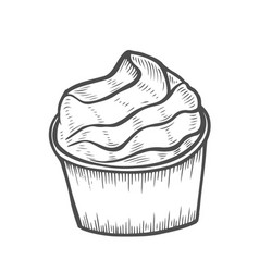 dessert and sweet isolated vector image