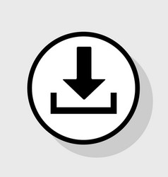 download sign flat black vector image
