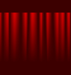 front closed red theater curtain background vector image
