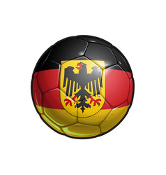 German eagle flag football - soccer ballxa vector