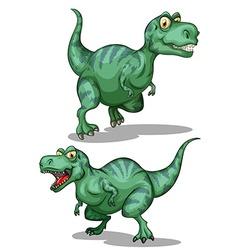 Green dinosaurs on white vector