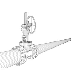 industrial valve rendering of 3d vector image
