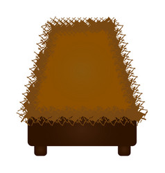 isolated straw cradle vector image