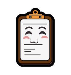 Kawaii report table icon vector