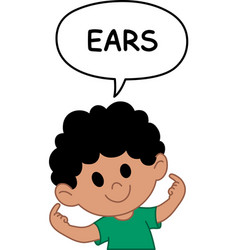kid ears vector image