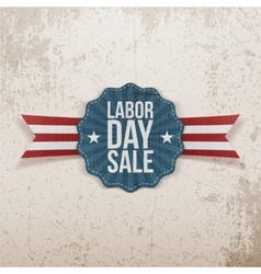 Label Template with Labor Day Sale Text vector