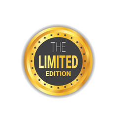 limited edition sticker exclusive offer label vector image