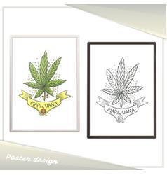 medical marijuana poster ten vector image