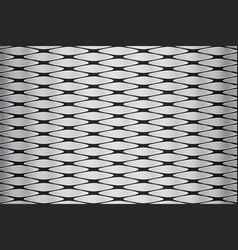 Metallic geometric pattern vector