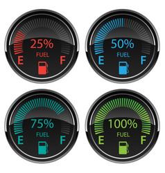 Modern electronic digital car gas fuel gauges vector