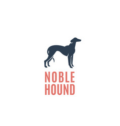 Noble hound abstract sign emblem or logo vector