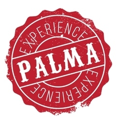 Palma stamp rubber grunge vector