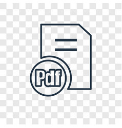 pdf document concept linear icon isolated on vector image