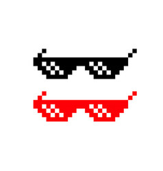 pixel glasses icon lightning goggles on isolated vector image