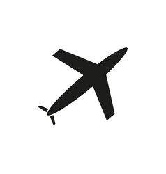plane of black icon vector image