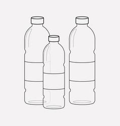 plastic bottles icon line element vector image