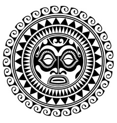 Polynesian tattoo design mask frightening masks vector