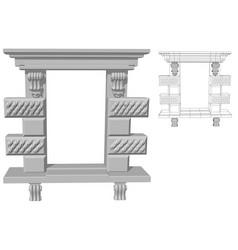 rectangular window opening vector image